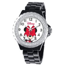 <strong>Disney</strong> Women's Minnie Mouse Enamel Sparkle Bracelet Watch