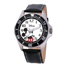 Men's Mickey Mouse Honor Leather Strap Watch