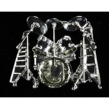 Ludwig Drumset Pin in Silver