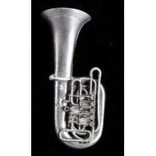 Tuba Pin in Pewter