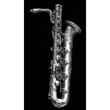 Baritone Sax Pin in Pewter