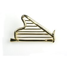 Harp Stick Pin in Gold