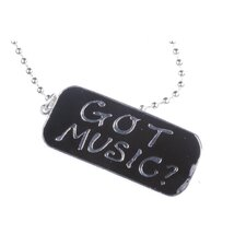 <strong>Noteables</strong> Got Music Dogtag Necklace in Silver
