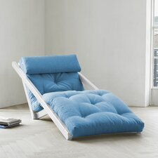 Fresh Futon Figo with White Frame in Horizon Blue