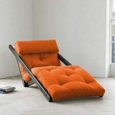 Fresh Futon Figo with Wenge Frame in Orange