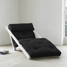 Fresh Futon Figo with White Frame in Black