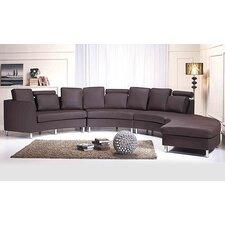 "Leder-Sofa ""Rotunde"""