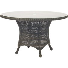 <strong>Woodard</strong> Serengeti Round Umbrella Dining Table