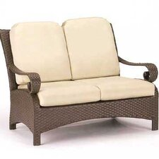 <strong>Woodard</strong> Carlton Wicker Loveseat with Cushions