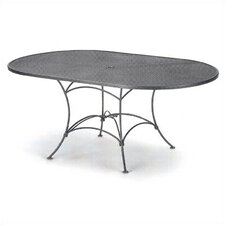 <strong>Woodard</strong> Mesh Top Set-Up Oval Dining Table