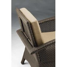 <strong>Woodard</strong> Trinidad Wicker Barrel Dining Arm Chair with Cushion