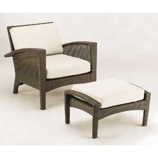 <strong>Woodard</strong> Trinidad Wicker Deep Seating Chair w/ Cushions