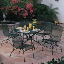 <strong>Woodard</strong> Windflower Mesh 5 Piece Dining Set