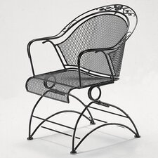 Windflower Coil Spring Barrel Dining Arm Chair