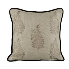 Feather Burlap Pillow