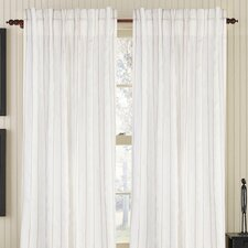 Linear Linen Rod Pocket Drape Single Panel