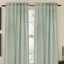 <strong>Gracious Living</strong> Plain Linen Rod Pocket Drape Single Panel
