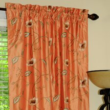 Lilly Silk Rod Pocket Drape Single Panel