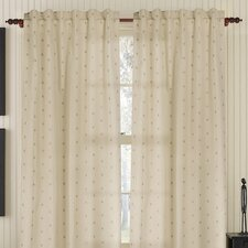 <strong>Gracious Living</strong> Dots Rod Linen / Cotton Blend Pocket Drape Single Panel
