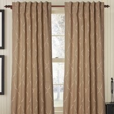 Mesmerize Burlap Rod Pocket Drape Single Panel