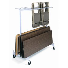 "<strong>Raymond Products</strong> 84"" Hanging Folded Chair and Table Storage Truck"