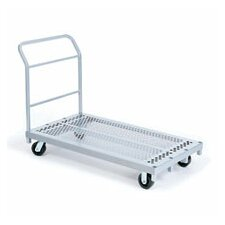 Heavy Duty Platform Truck, Phenolic Casters, All Swivel, 1 Push Handle and 1 End Handle