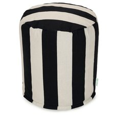 Vertical Stripe Small Pouf