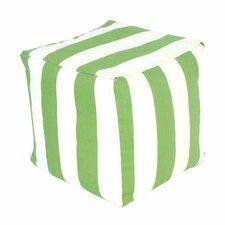 Striped Cube Ottoman