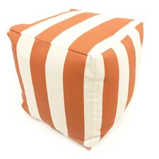 <strong>Majestic Home Products</strong> Striped Cube Ottoman