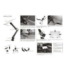 <strong>Cotytech</strong> Car Holder for iPad Clamping Ball Joint Head Dual Arm