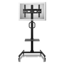 "Adjustable Ergonomic Mobile TV Cart for 32"" - 52"""