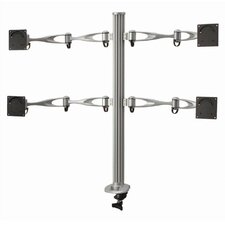 Height Adjustable 4 Screen Monitor Desk Mount