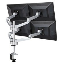 Four Monitor Desk Mount Quick Release Swing Arm