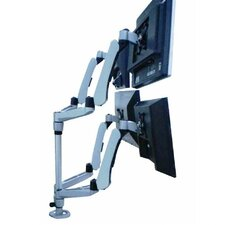 Four Monitor Desk Mount Spring Arm Quick Release
