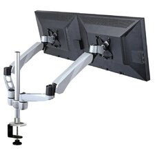 Expandable Dual Monitor Desk Mount Spring Arm Quick Connect