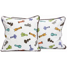 <strong>Meo and Friends</strong> Friends on Your Multi-print Down-Filled Pillow