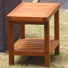 <strong>Aqua Teak</strong> Spa Teak Shower Bench with Shelf