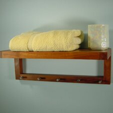 "Spa Teak 24"" x 9"" Bathroom Shelf"