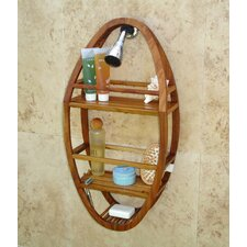 <strong>Aqua Teak</strong> Spa Teak Oval Shower Organizer