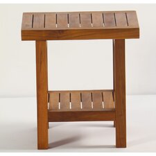 <strong>Aqua Teak</strong> Spa Teak Shower Stool with Shelf