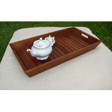 <strong>Aqua Teak</strong> Solid Teak Serving and Storage Tray