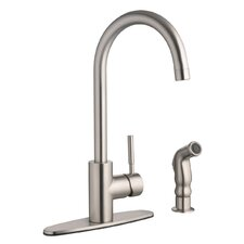 Springport Single Handle Kitchen Faucet with Sprayer