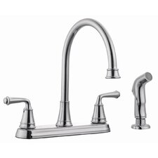 Eden Double Handle Kitchen Faucet with Sprayer