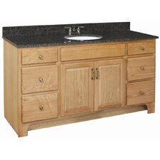"Richland 60"" Double Door 4 Drawers Cabinet Vanity Base"