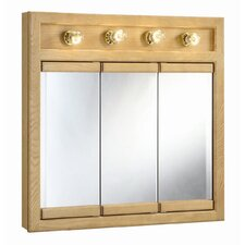 "Richland 30"" x 30"" 4-Light Tri-View Wall Cabinet"