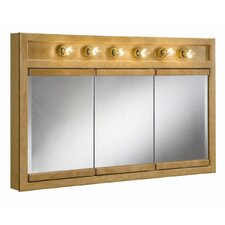 "Richland 48"" x 30"" 6 Light Tri View Wall Cabinet"
