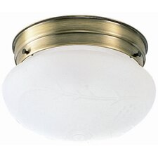 <strong>Design House</strong> 1 Light Flush Mount