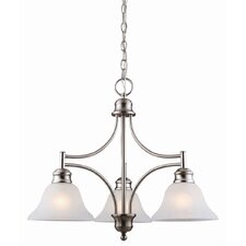 <strong>Design House</strong> Bristol 3 Light Chandelier