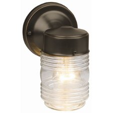 Jelly Jar 1 Light Outdoor Downlight Wall Lantern