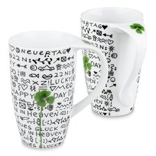 13 oz. New Day New Luck Mug (Set of 2)